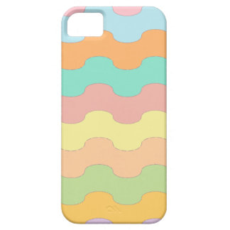 Elegant waves sea of colors and wavy geometry iPhone SE/5/5s case