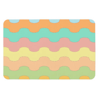 Elegant waves sea of colors and wavy geometry rectangle magnets
