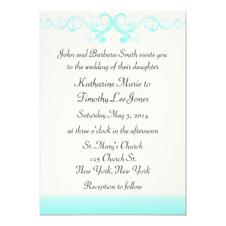 Elegant Waves Wedding Card