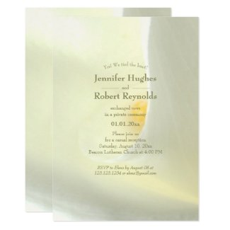 Elegant We Tied The Knot Floral Elopement Invitation