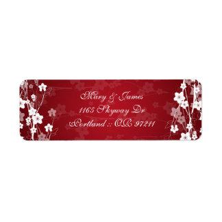 Elegant Wedding Address Cherry Blossom Red Label