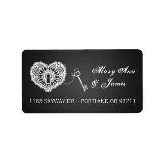 Elegant Wedding Address Key To My Heart Black Label