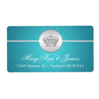Elegant Wedding Address Royal Crown Blue Label