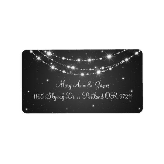 Elegant Wedding Address Sparkling Chain Black Label