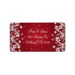 Elegant Wedding Address Winter Sparkle Red Label