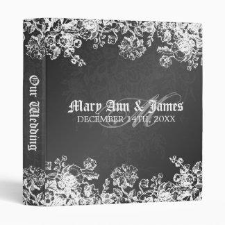 Elegant Wedding Album Victorian Flourish Black Binder