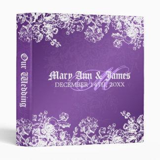 Elegant Wedding Album Victorian Flourish Purple Binders