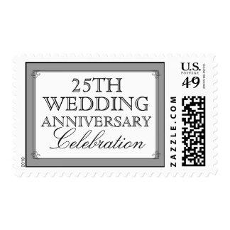 Elegant Wedding Anniversary Milestone Celebration Postage