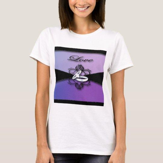 elegant wedding bands purple and black wedding T-Shirt