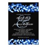 Elegant Wedding Blue Hollywood Glam Card