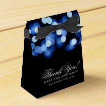 Elegant Wedding Blue Hollywood Glam Favor Box