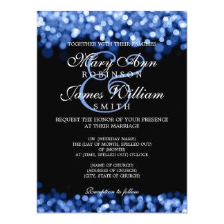 Elegant Wedding Blue Lights Card