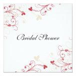 "Elegant Wedding Bridal Shower Invitations 5.25"" Square Invitation Card"
