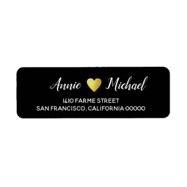 Bride Themed elegant wedding bride groom return address black label