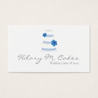 Elegant Wedding Cake Designer Business Card