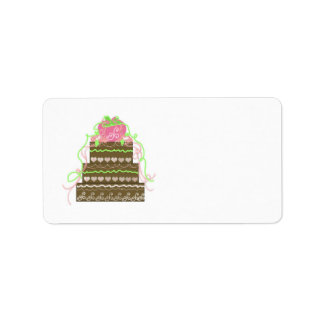 Elegant Wedding Cake Label