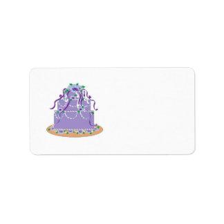 Elegant Wedding Cake Personalized Address Label