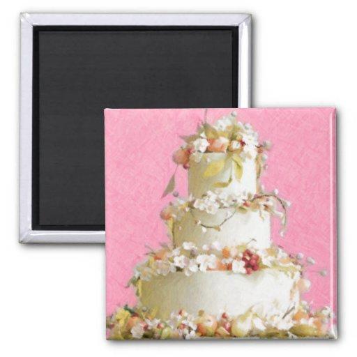 Elegant Wedding Cake Magnet