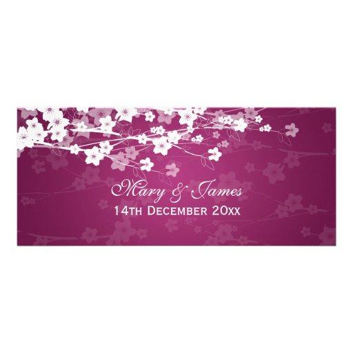 Elegant Wedding Cherry Blossom Plum Invites