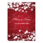 Elegant Wedding Cherry Blossom Red 5x7 Paper Invitation Card