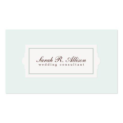 Elegant Wedding Consultant Plaque Business Card