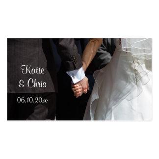 Elegant Wedding Couple Holding Hand Favor Card Business Card