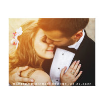 Elegant Wedding Couple Photo Keepsake Canvas Print