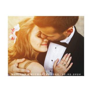 Elegant Wedding Couple Photo Keepsake Canvas Print at Zazzle