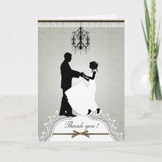Elegant Wedding Couple Thank You Card