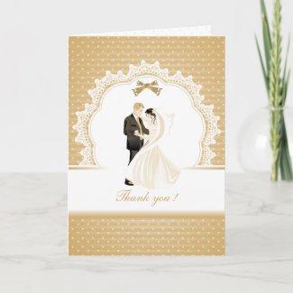 Elegant Wedding Couple Thank You Weding Card
