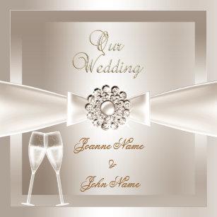 elegant wedding invitations zazzle