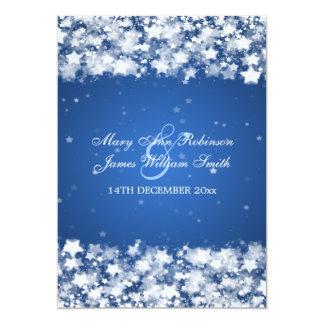 Elegant Wedding Dazzling Stars Blue Personalized Invites