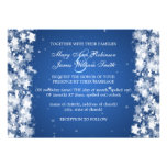 Elegant Wedding Dazzling Stars Blue Personalized Announcement