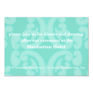 Elegant Wedding Dinner Invitation Card