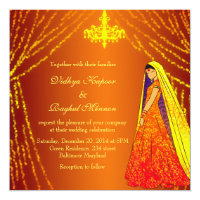 Elegant Wedding Dress Lights Chandelier Invitation