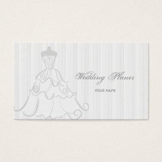 Elegant Wedding Dress White And Gray Business Card