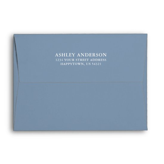Elegant Wedding Dusty Blue Envelope
