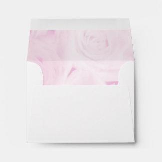 Elegant wedding envelopes | Pink rose flower style