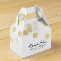 Elegant Wedding Faux Gold Foil Glitter Lights Favor Box