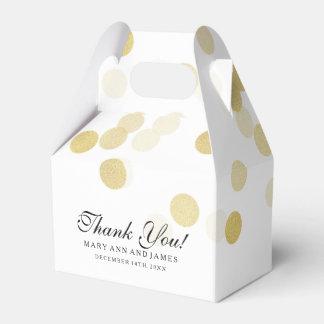 Elegant Wedding Faux Gold Foil Glitter Lights Favor Box