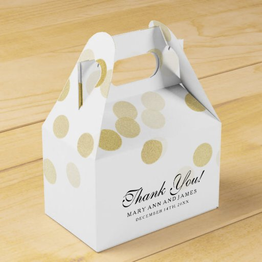 Elegant Wedding Gold Lights Favor Box