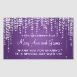 Elegant Wedding Favor Tag Night Dazzle Purple Stickers