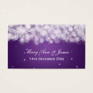 Elegant Wedding Favor Tag Party Sparkle Purple