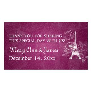 Elegant Wedding Favor Tag Romantic Paris Berry Pin Business Card Templates