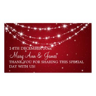 Elegant Wedding Favor Tag Sparkling Chain Red Business Card