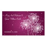Elegant Wedding Favor Tag Summer Sparkle Merlot Double-Sided Standard Business Cards (Pack Of 100)