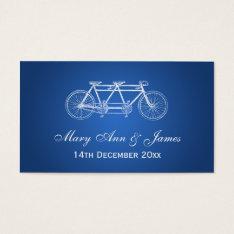 Elegant Wedding Favor Tag Tandem Bike Blue at Zazzle