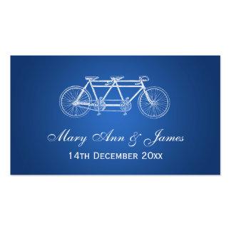 Elegant Wedding Favor Tag Tandem Bike Blue Business Cards