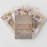 Elegant Wedding Favor Tuscan Damask Bicycle Playing Cards