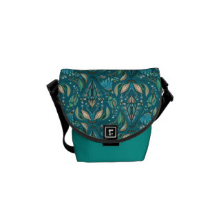 Elegant wedding floral rustic beautiful pattern messenger bag